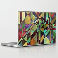 the fault Laptop & iPad Skins featuring Fault Lines by Klara Acel