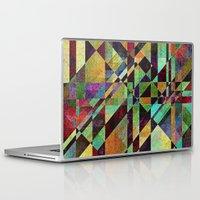 fault Laptop & iPad Skins featuring Fault Lines by Klara Acel