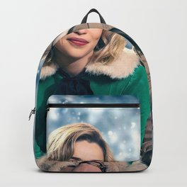 Last Christmas 2019 poster promotional materials Christmas comedy Emilia Clarke Henry Golding Backpack