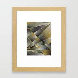 GREY TO YELLOW Framed Art Print
