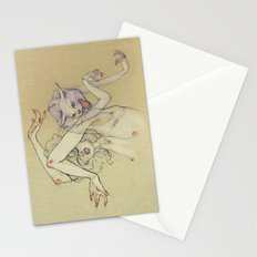 The lady and the wild cat. Stationery Cards