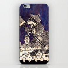 Dapper Raccoon iPhone Skin