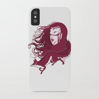 kitsune iPhone & iPod Cases featuring Kitsune by Stevyn Llewellyn