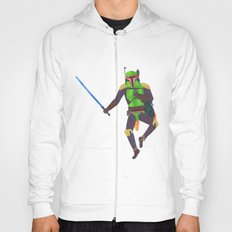 Boba Fett with a Lightsaber Collage Hoody