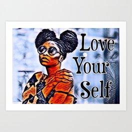 Love Your Self African American Black Woman Art Print