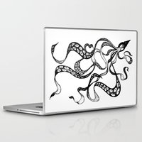 squid Laptop & iPad Skins featuring Squid by Nicole Cioffe