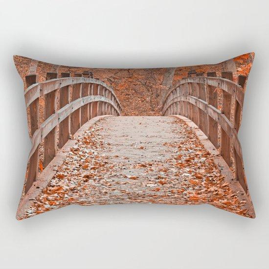 Ruby Red Bridge Rectangular Pillow