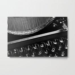 Typewriter No.3 Metal Print