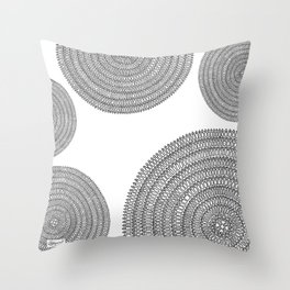 Aligning on White Background Throw Pillow