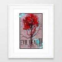 evil dead Framed Art Prints featuring Evil Dead II by Savage Mind