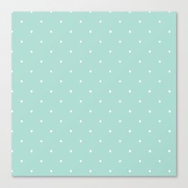 Turquoise Polka Canvas Print
