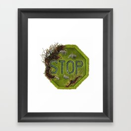 """STOP"" Framed Art Print"