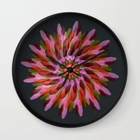 cyberpunk Wall Clocks featuring Falling Bloom by Obvious Warrior