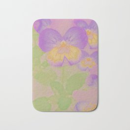 Pansies, The Earth Laughs In Flowers Bath Mat