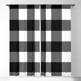 Black & White Buffalo Plaid Blackout Curtain