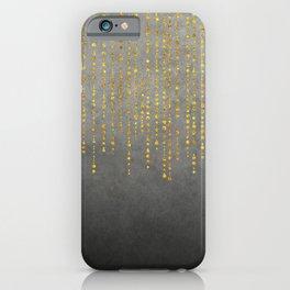 Dark Glamour golden faux glitter iPhone Case