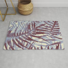 Scanned Ferns Rug