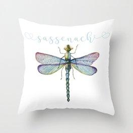 Sassenach Dragonfly Throw Pillow