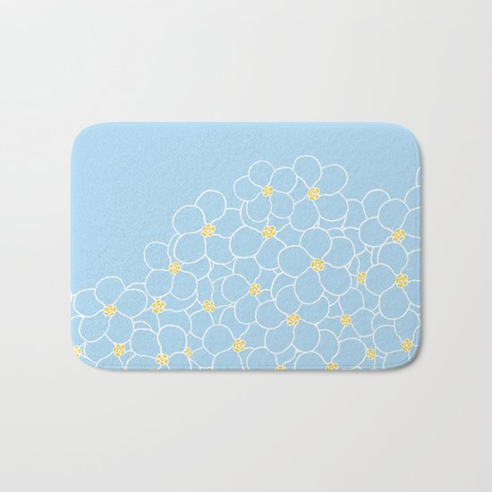 Forget Me Knot Blue Boarder Bath Mat