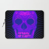 calavera Laptop Sleeves featuring Calavera by Joe Baron