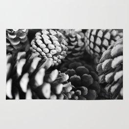 Pine cones black&white... Rug