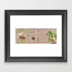 Carrot Cake Recipe  Framed Art Print