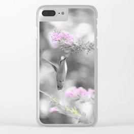 Digita Hummingbird painting. Clear iPhone Case