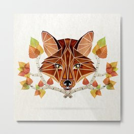fox autumn Metal Print