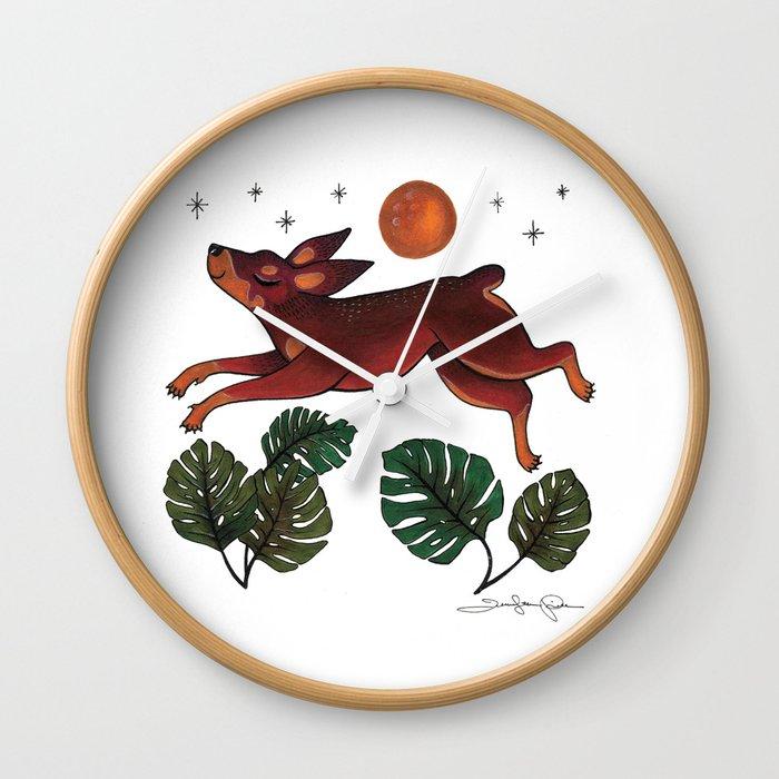 All Dogs Go To Heaven Wall Clock By Jenniferprior Society6