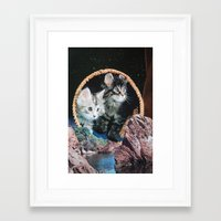 kitty Framed Art Prints featuring Kitty by John Turck