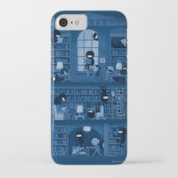 library iPhone & iPod Cases featuring Silence in the Library by Anna-Maria Jung