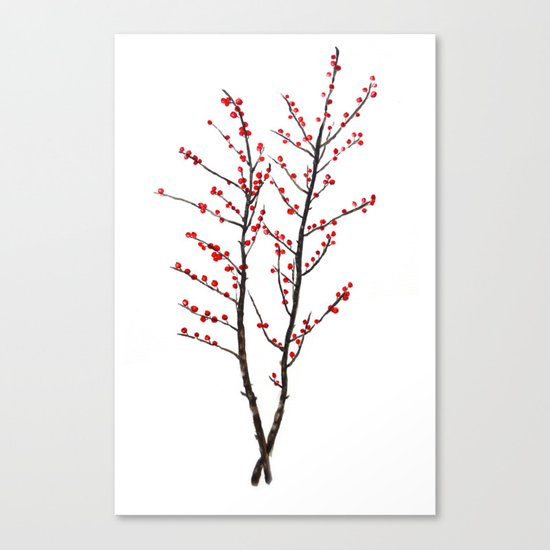 red beans branch Canvas Print