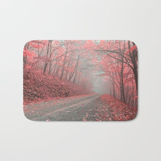 Misty Forest Road - Tickle Me Pink Bath Mat