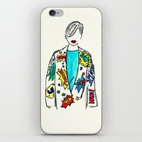 comic iPhone & iPod Skins featuring Comic by Fatima khayyat