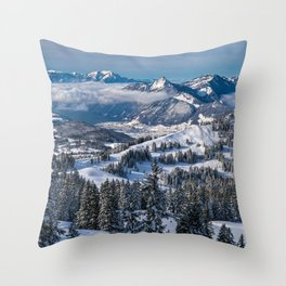 Things To Remember--Swiss Alps Landscape Throw Pillow