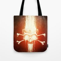 melissa smith Tote Bags featuring Black Smith by Dr. Lukas Brezak