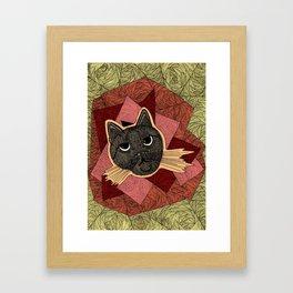 Cattitude: A cat with an attitude Framed Art Print