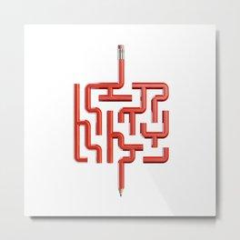 The Maze Writer Metal Print