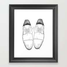 Shoes the drawing Framed Art Print