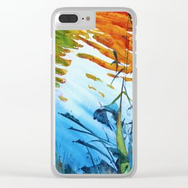 October Reflections I Clear iPhone Case