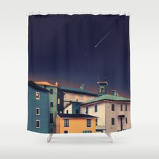Castles at Night Shower Curtain