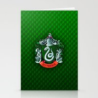 slytherin Stationery Cards featuring SLYTHERIN  by Smart Friend
