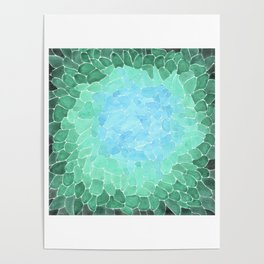 Abstract Sea Glass Poster