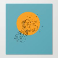 third eye Canvas Prints featuring Third Eye by Matt Smith