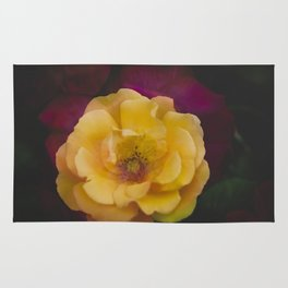 Roses (double exposure version) Rug