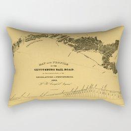 Gettysburg Railroad 1839 Rectangular Pillow