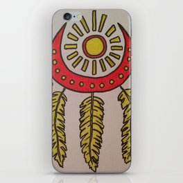 Feathers and sun iPhone Skin