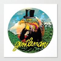 gentleman Canvas Prints featuring Gentleman by dogooder