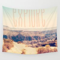 explore Wall Tapestries featuring Explore by Bunhugger Design