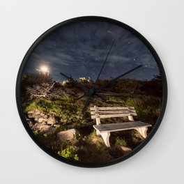 Meteoric Bench Wall Clock